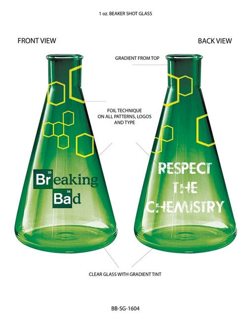 BREAKING BAD RESPECT CHEMISTRY SHOT GLASS