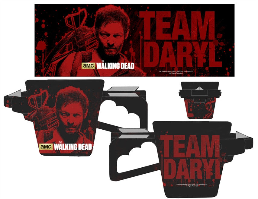 WALKING DEAD CROSS BOW MOLDED MUG WITH TEAM DARRYL ART