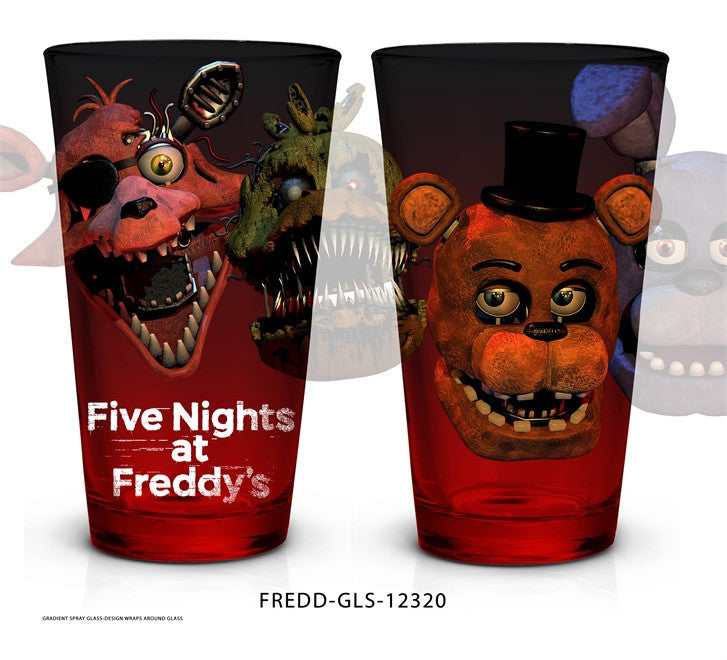 5 NIGHTS AT FREDDY`S Pint glass