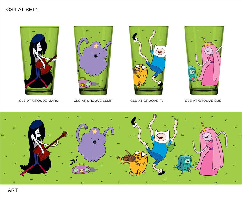 ADVENTURE TIME CHARACTERS 4-PACK PINT GLASS