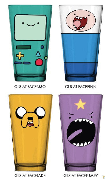 ADVENTURE TIME FACES 4-PACK PINT GLASSES