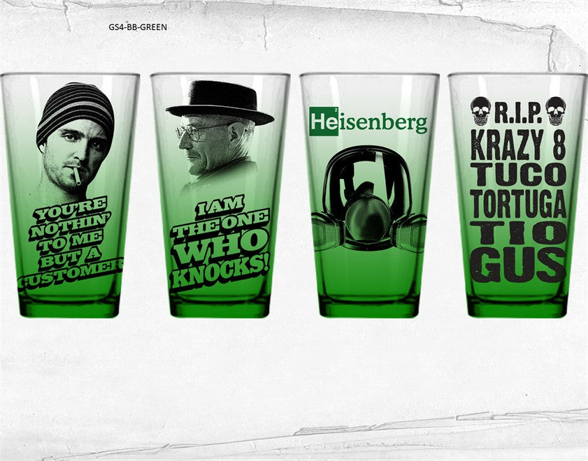 Breaking Bad 4-Pack Pint Glass Green