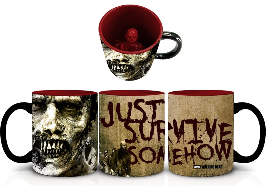AMC The Walking Dead ZOMBIE INSIDE THE MUG, Set of 1, 20oz Ceramic Coffee Mug