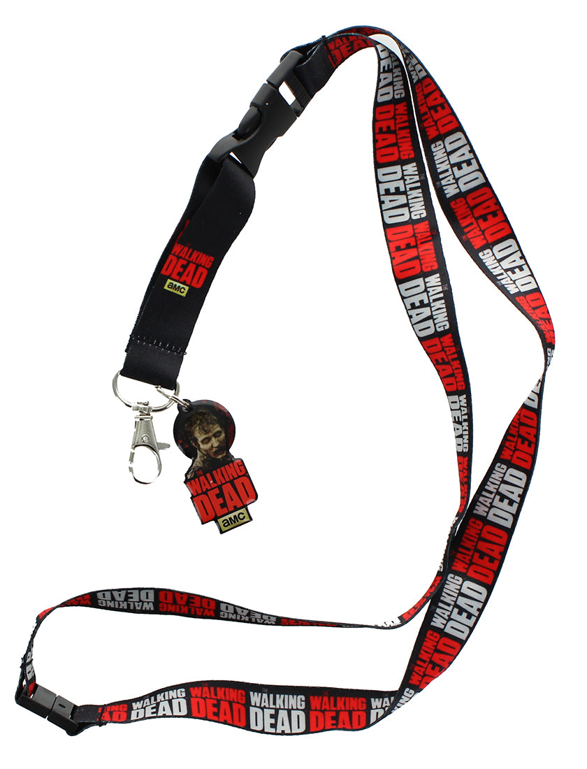 The Walking Dead Logo Lanyard with Zombie/ Logo Charm