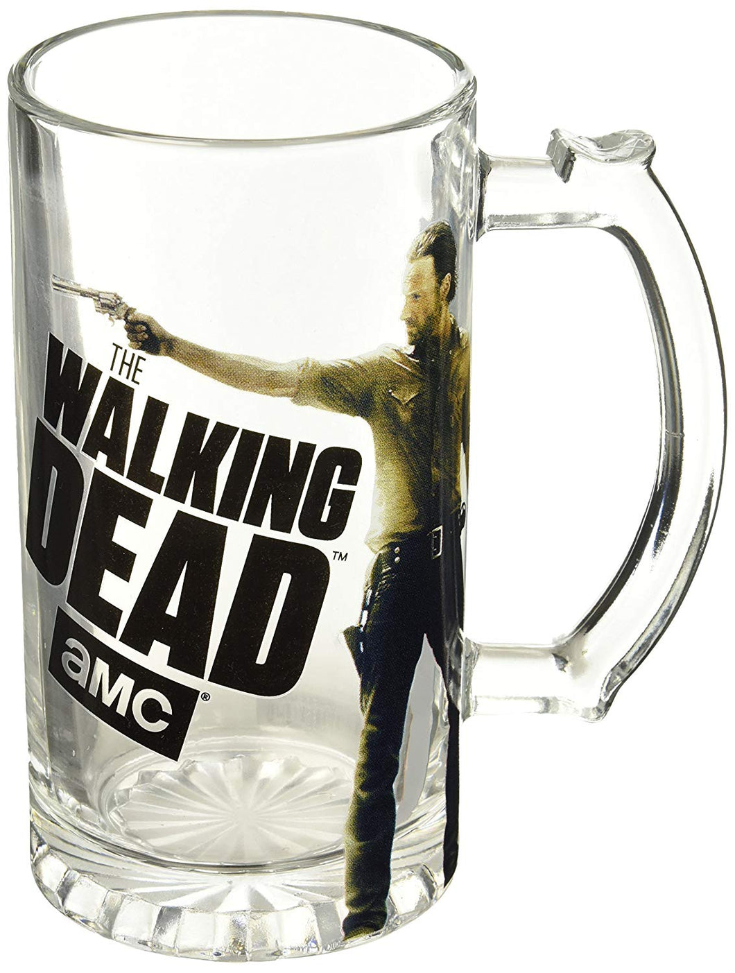 AMC The Walking Dead Rick Grimes cleared Beer Mug, Set of 1, 16oz