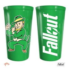 "Fallout Plastic Cup, Green colored ""FOUR LEAF CLOVER"" Perk Plastic/Travel/Disposal Cup, Set of 1, 16oz"