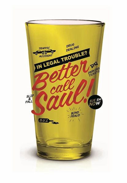 BB Better Call Saul Pint Glass Foil Printed 16OZ