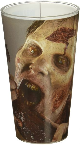 AMC The Walking Dead Extremely Rare Walking Dead Feasting Walker Pint Glass, Set of 1, 16oz