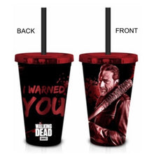 Walking Dead Zombie Negan I Warned You Red 18 oz, Set of 1, Tumbler Carnival Travel Cup