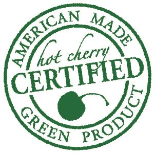 certified stamp in green