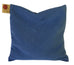 Hot Cherry Square Pillow in Blue Denim