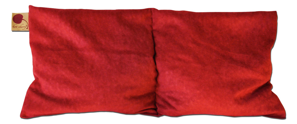 Hot Cherry Double Square Pillow in Plush Red Ultra-Suede