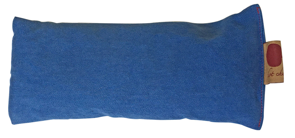 Hot Cherry Eye Pillow in Blue Denim
