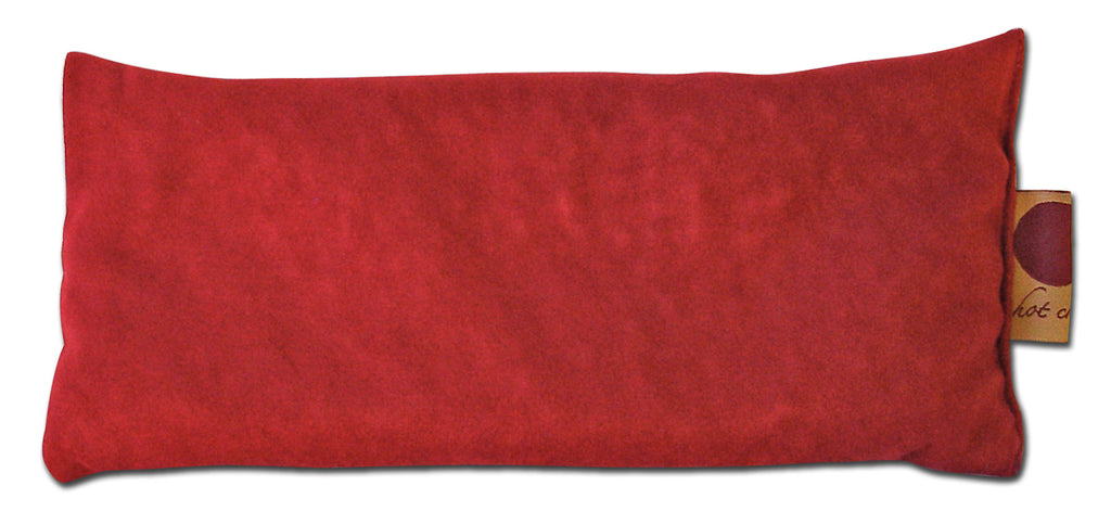 Hot Cherry Red Ultra-Suede Eye Pillow