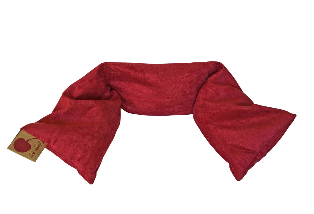 Hot Cherry Red Ultra-Suede Neck Wrap