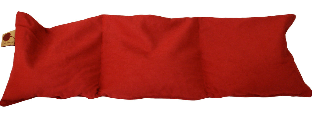 Hot Cherry Triple Square Pillow in Red Denim