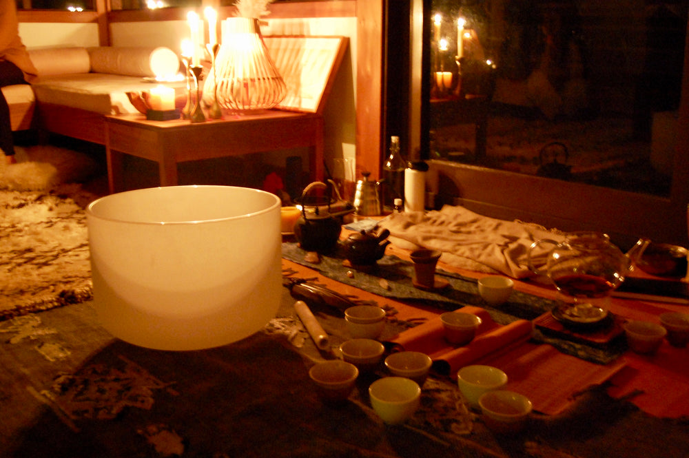 Spring Equinox Tea Ceremony + Sound Bath, with Jade & Rachel - March 20 @ 7PM in Mill Valley