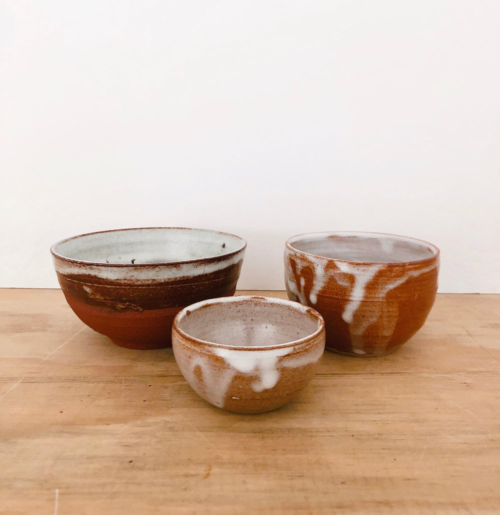 Shibui tea bowls (3 different sizes)
