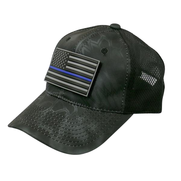 Thin Blue Line Black Kryptek Camo Hat With Patch – bluelineheroes ef99a950fd4