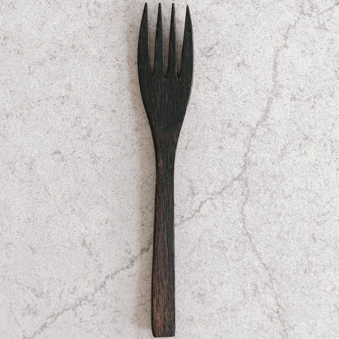 Wooden Buddha Fork by Coconut Bowls