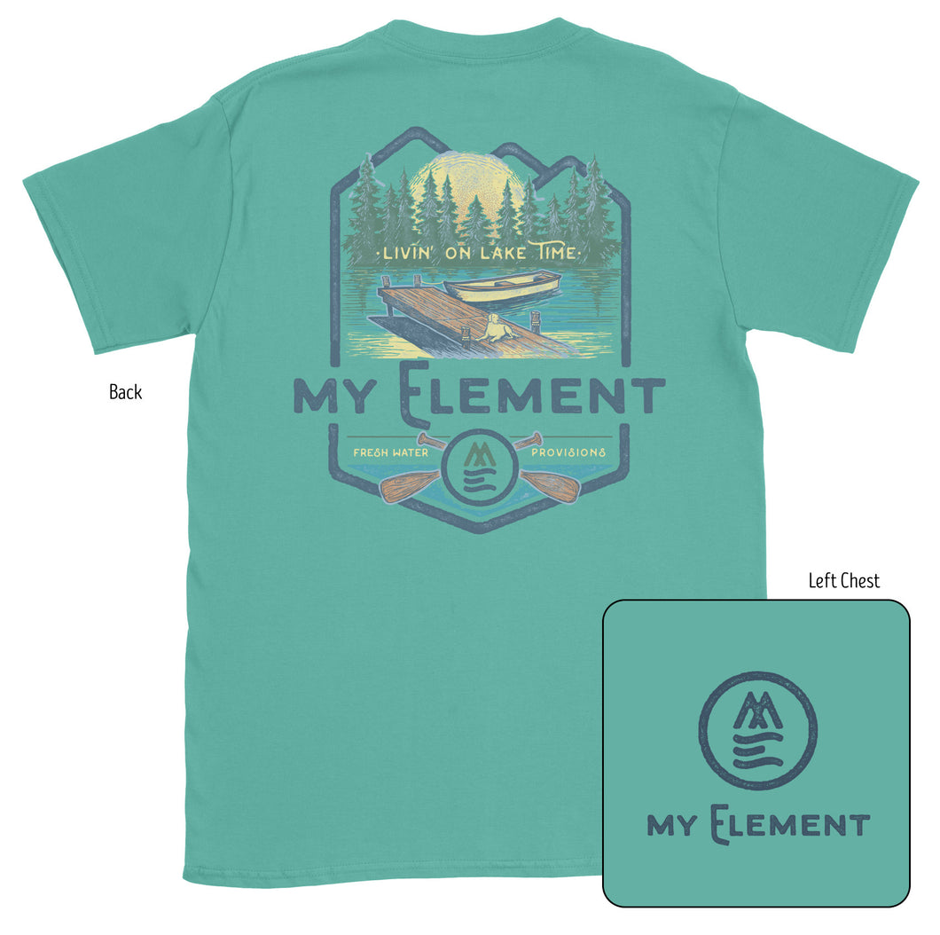 Lake Time-Short Sleeve Pocket T-Shirt (2 colors) - MyElementco.com