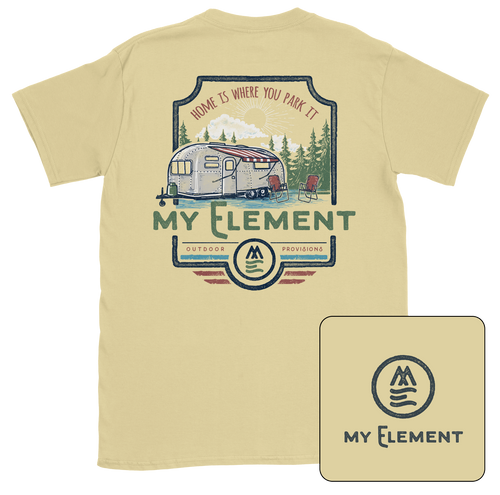Camper - Short Sleeve Pocket T-Shirt (2 colors) - MyElementco.com