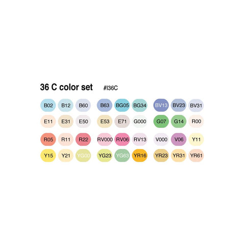 Copic Ciao Markers Set 36/Pkg Set C