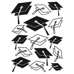 "Darice Embossing Folder 4.25""X5.75"" Graduation Hat Background"
