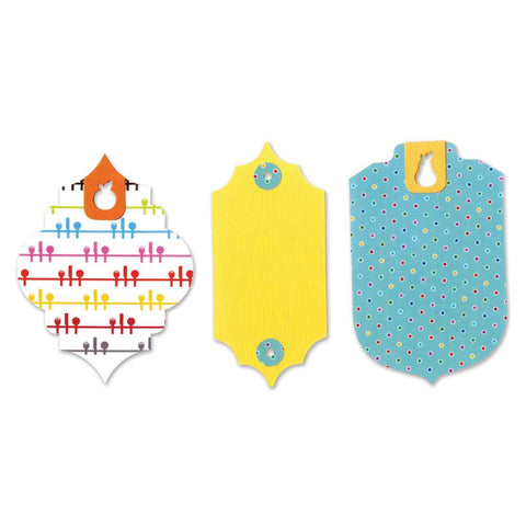 Sizzix Bigz Large Die By Where Women Cook 6 inch X8.75 inch Tags with Fruit Holes