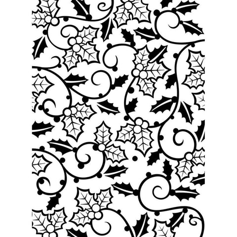 "Embossing Folder 4.25""X5.75"" Holly Vines"