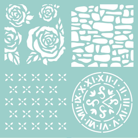 Kaisercraft Designer Template 12 inch X12 inch Floral Quarters