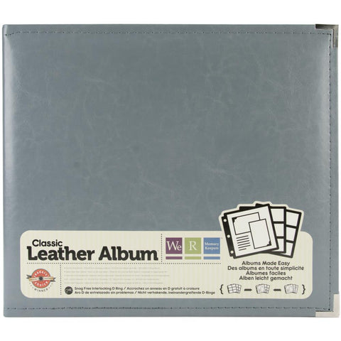 We R Classic Leather D-Ring Album 12 Inch X12 Inch Charcoal