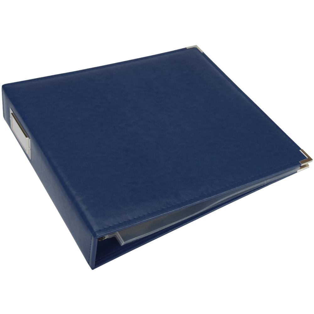 "We R Classic Leather D-Ring Album 12""X12"" Cobalt"