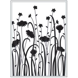 "Darice Embossing Folder 4.25""X5.75"" Dainty Wildflowers"