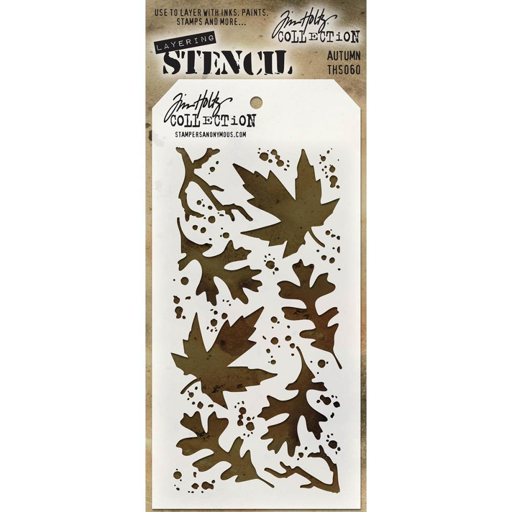 Tim Holtz Layered Stencil 4.125 inch X8.5 inch  Autumn