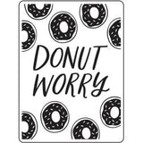 "Darice Embossing Folder 4.25""X5.75"" Donut Worry"