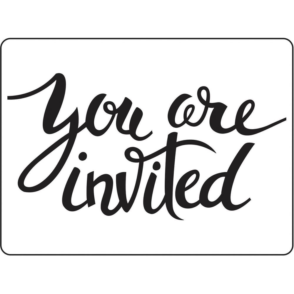 "Darice Embossing Folder 4.25""X5.75"" You Are Invited"