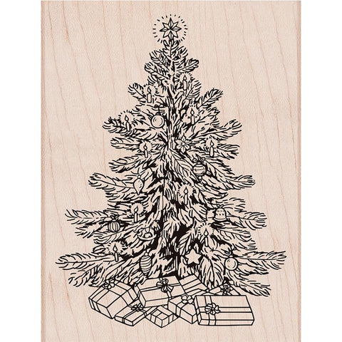 Hero Arts Mounted Rubber Stamp 5.75 inch X4.5 inch Classic Christmas Tree