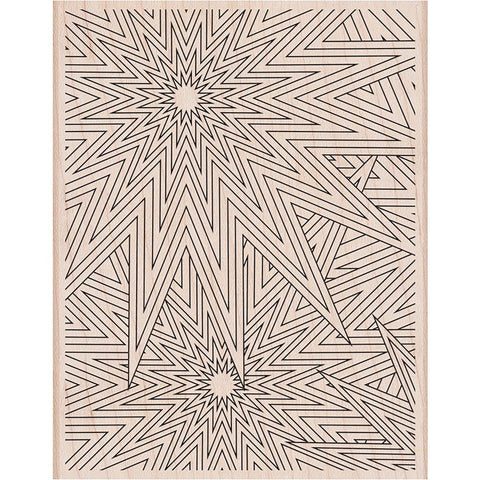 Hero Arts Mounted Rubber Stamp 5.75 inch X4.5 inch Star Patterns Background