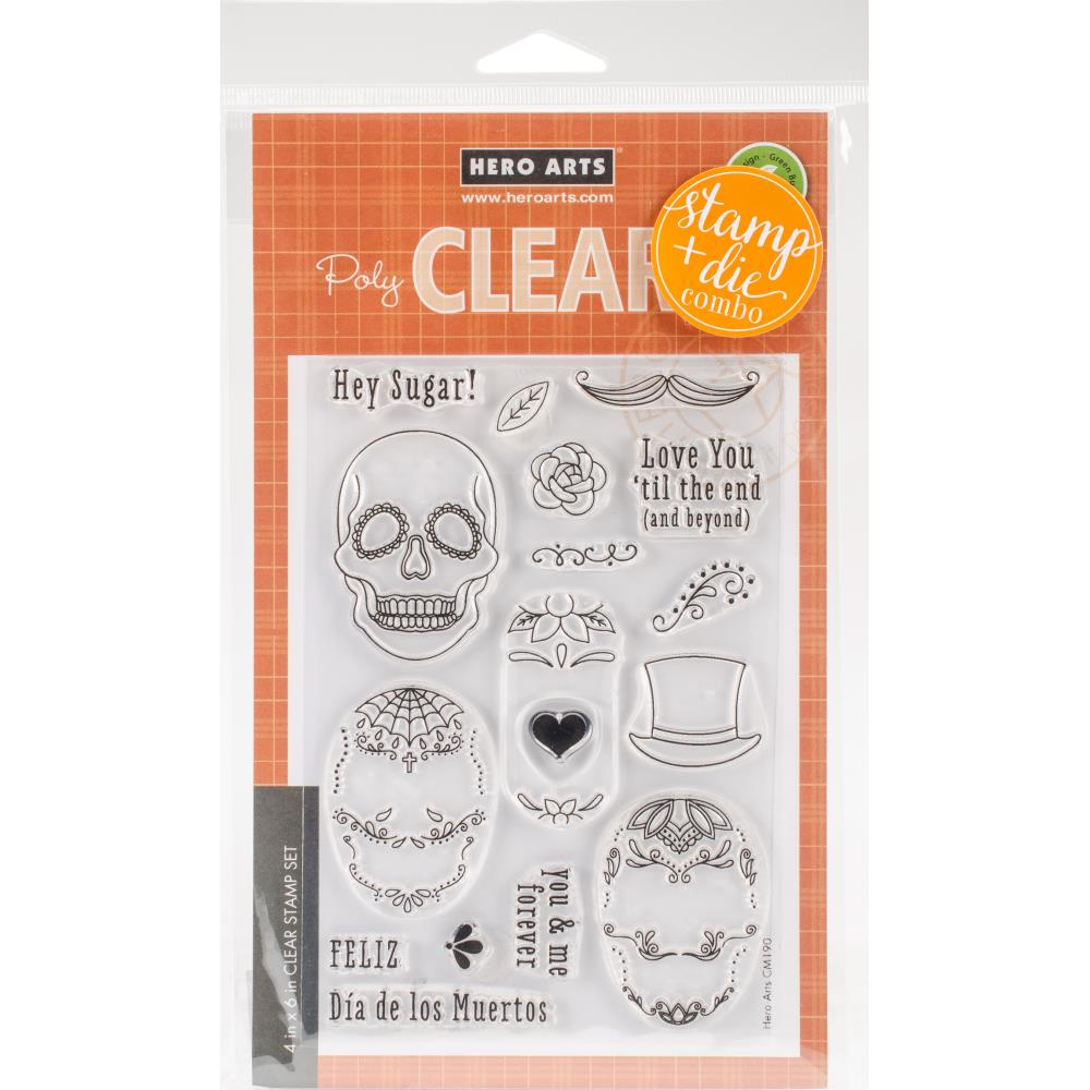 Hero Arts Clear Stamp & Die Combo Sugar Skulls