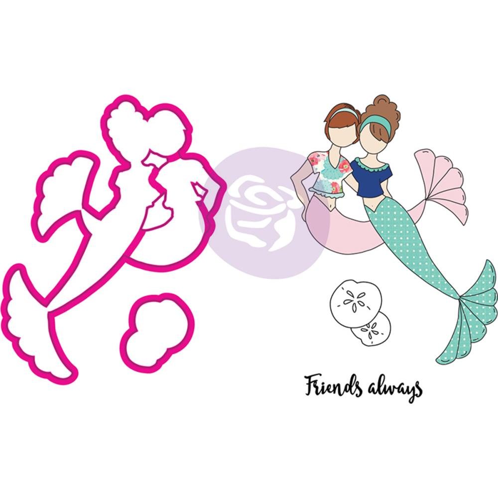 Julie Nutting Stamp & Die Set Mermaid Kisses Besties