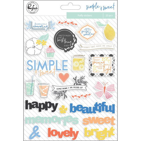 Simple & Sweet Puffy Stickers 6X8 25 pack