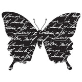 Darkroom Door Cling Stamp 3 inch X2 inch Butterfly Note
