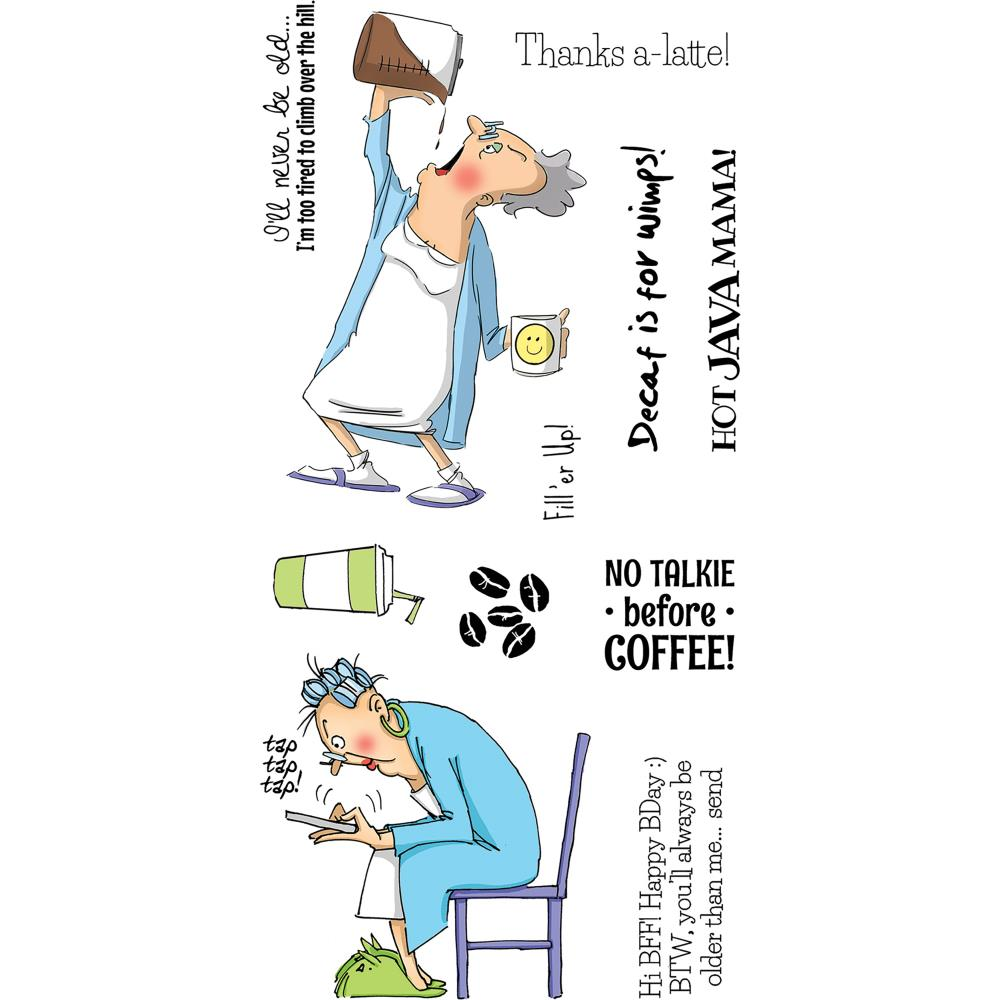 Art Impressions Clear Stamps Hot Java Mama