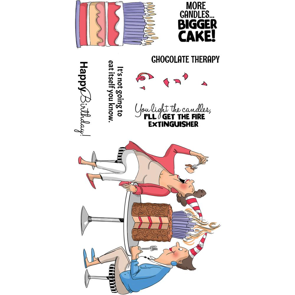 Art Impressions Clear Stamps Chocolate Therapy
