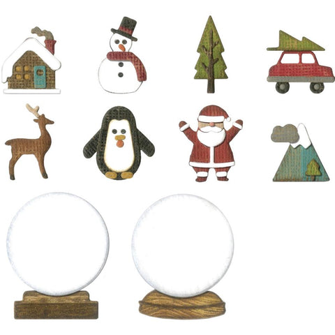 Sizzix Thinlits Dies By Tim Holtz 11/Pkg Tiny Snowglobes