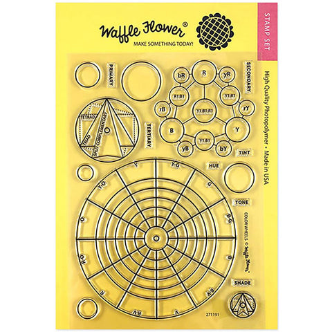 "Waffle Flower Crafts Clear Stamp 5""X7"" Color Wheels"