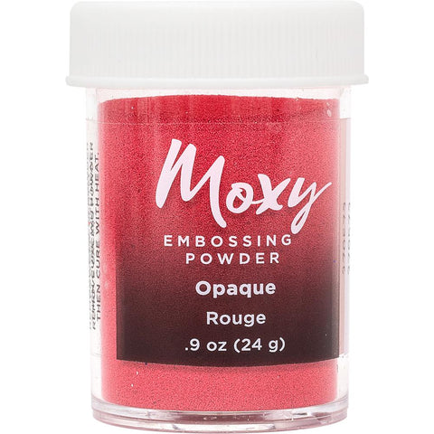 Moxy Opaque Finish Embossing Powder 1oz - Rouge