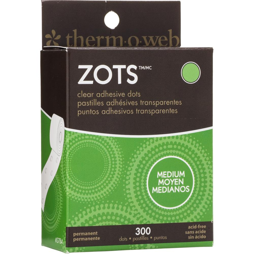 "Thermoweb Zots Clear Adhesive Dots - Medium 3/8""X1/64"" Thick 300/Pkg"
