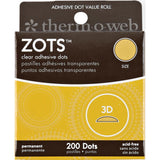 "Thermoweb Zots Clear Adhesive Dots - 3D 1/2""X1/8"" Thick 200/Pkg"